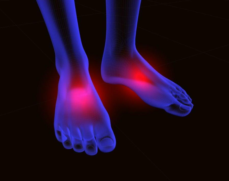 pėdų sąnariai sukelia skausmą skauda krutines kaulus