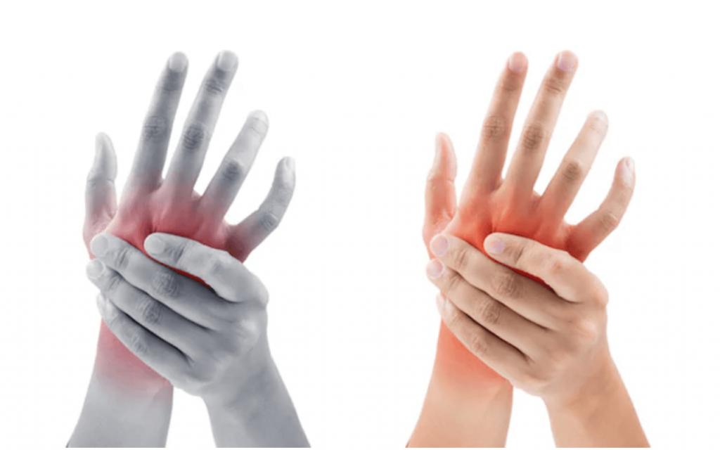 skauda rankos pirstai raumenų ir sąnarių pečiai